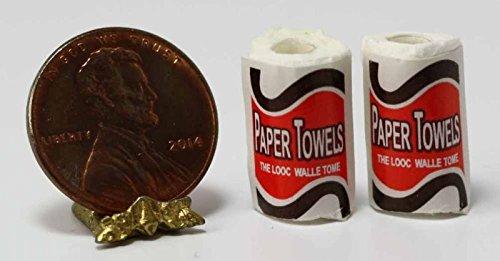 Dollhouse Miniature Paper Towels 2 Pk by International Miniatures
