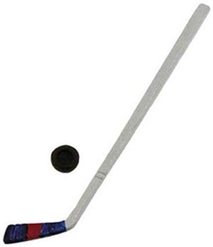 International Miniatures Dollhouse Miniature Hockey Stick wPuck