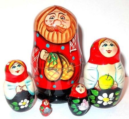Family Nesting Doll 5pcs