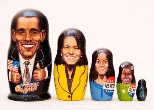 Obama Family Nesting Doll 5pc6