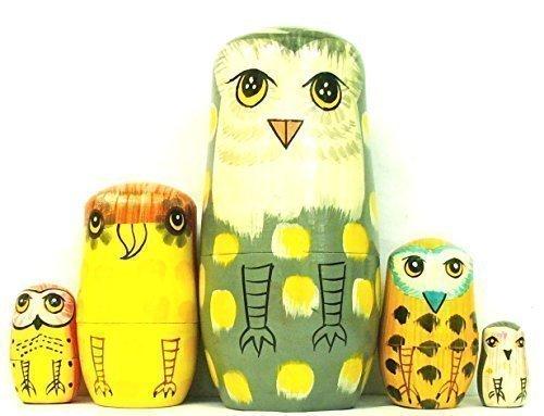 The Owl Family Nesting Dolls 5-12