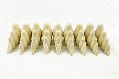 Lot Of 9 Matryoshka Russian Nesting Doll Babushka Blank Unpainted Set 5 Pieces Pcs
