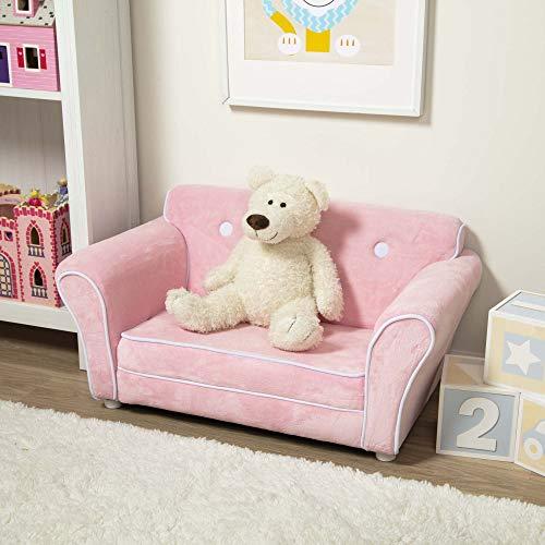 Melissa Doug Childs Sofa - Pink Plush Childrens Furniture