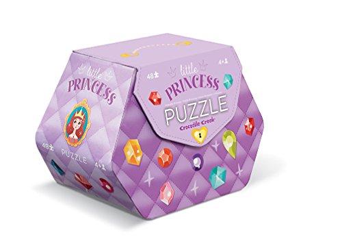 Crocodile Creek Little Princess Double Fun 48 piece Jigsaw Puzzle in Purse Shaped Box