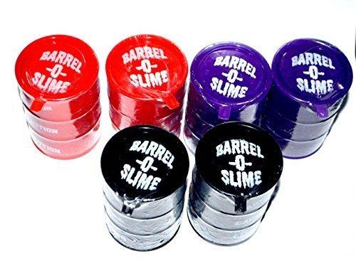 Barrel-O-Slime 6 Pack Slime 5 ounce each Mixed colors RedBlackPurple