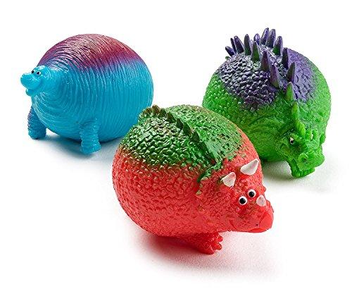 Assorted Dinosaur Splat Balls Sticky Sensory Stress Balls Textured and Sticky Sensory Toy Dinosaur Toys Bulk Pack of 3