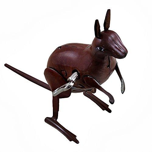Vintage Metal Windup toys Kangaroo Wind-up Tin Toy Collectibles