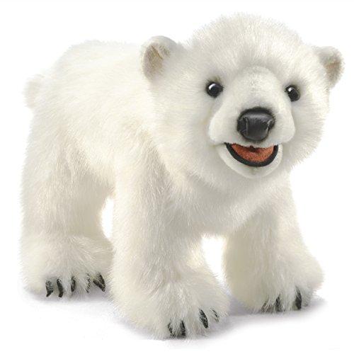 Folkmanis Polar Bear Cub Hand Puppet