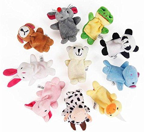 10 pcs Tiny Animal Farm Finger Puppet Toy Cloth Toy
