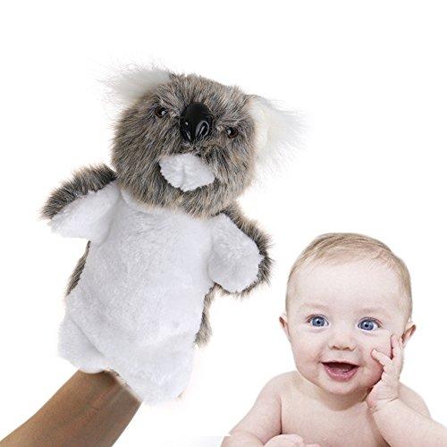 Delight eShop Cartoon Animal Hand Finger Puppet Toys Plush Cute Koala Doll Gift For Baby Kid