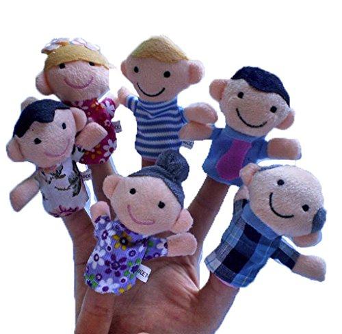 Generic 6Pcs New Soft Family Member Puppet Baby Finger Plush Toys