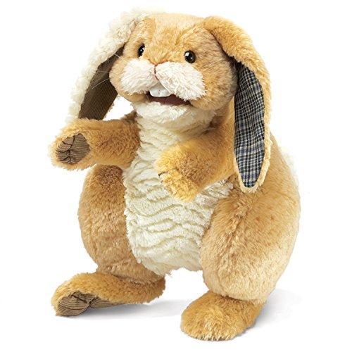 Folkmanis Patchwork Rabbit Hand Puppet