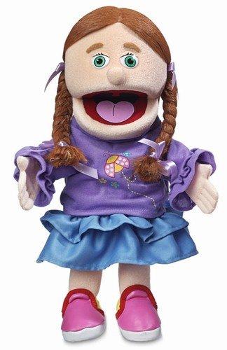 14 Amy Peach Girl Hand Puppet