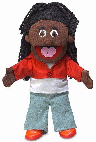 14 Sierra Black Girl Hand Puppet