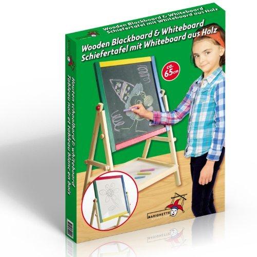 2-In-1 Childrens Blackboard Whiteboard Wooden Drawing Chalk Board by Marionette Wooden