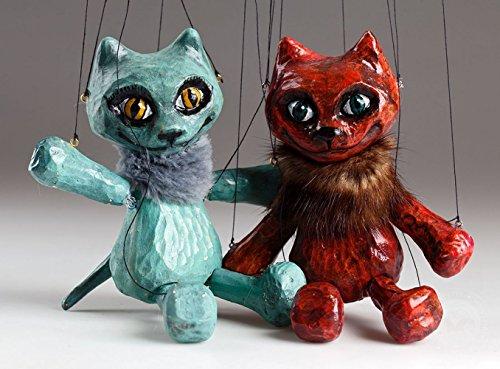 Circus Cat Czech Marionette