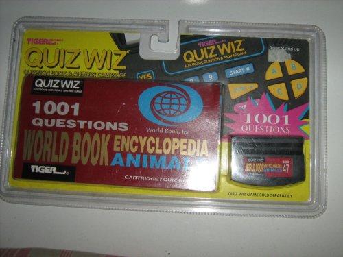 New TIger Electronics QUIZ WIZ Question Book Answer Cartridge-ANIMALS