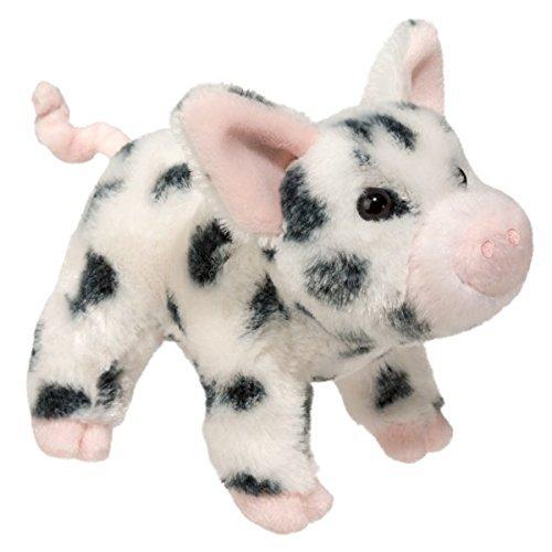 Douglas Leroy Black Spotted Pig Plush Stuffed Animal