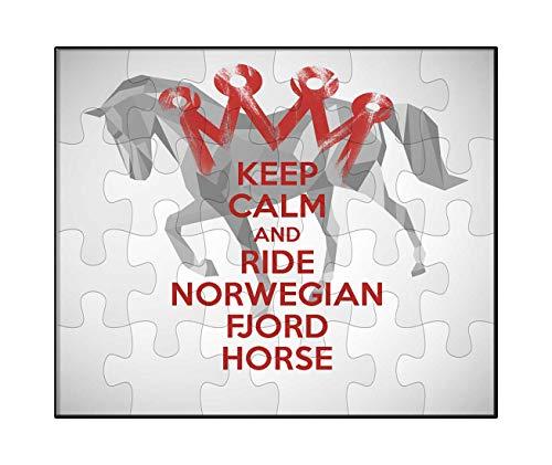 Makoroni - Keep Calm and Ride Norwegian Fjord Horse - Jigsaw Puzzle 30 pcs
