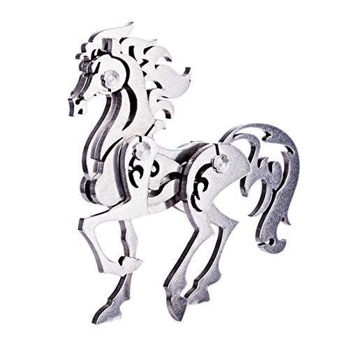 RuiyiF 3D Metal Puzzle Horse DIY Model Kit Detachable 3D Jigsaw Puzzles for Kids Ages 10-12 Ornament for Desk
