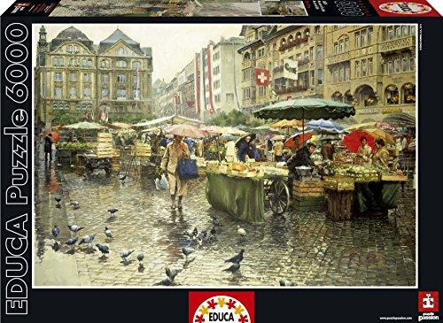 Educa Produce Market Basel Puzzle 6000-Piece