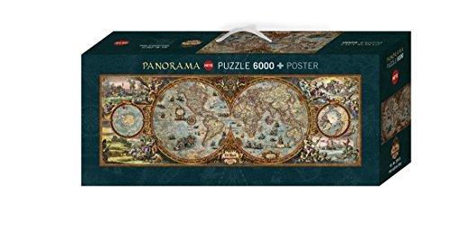 Heye Panorama Hemisphere Map Puzzles 6000-Piece by Heye