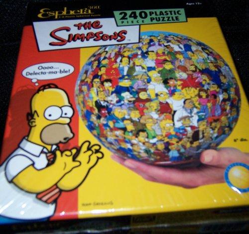Esphera 240 Piece 3-D Plastic Spherical Puzzle the Simpsons