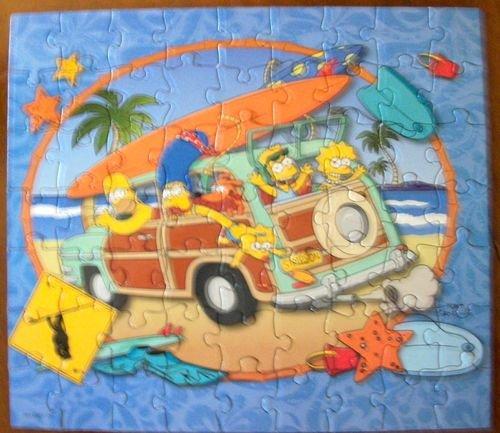 The Simpsons Puzzle-Surfari 63pc Puzzle