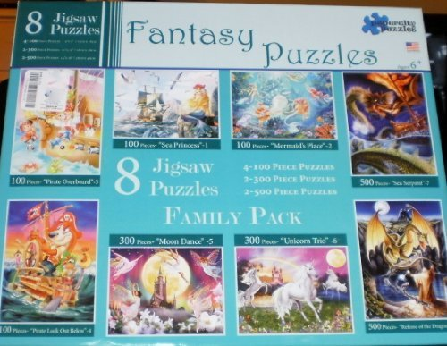 Fantasy Puzzles- 8 Jigsaw Puzzles - by Papercity Puzzles
