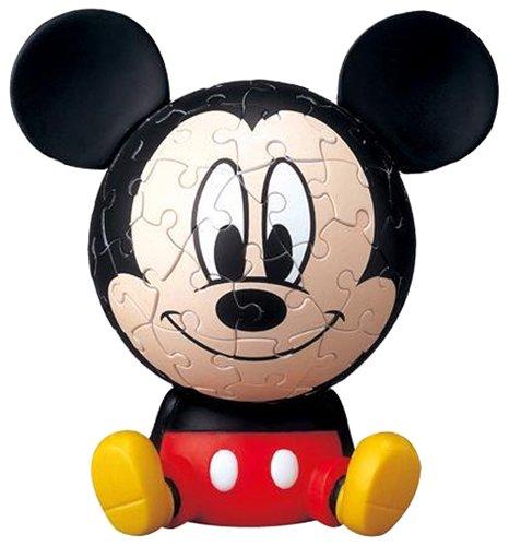 3D sphere puzzle Big Face Mini 60 Large Disney Mickey Mouse piece diameter of about 76cm japan import