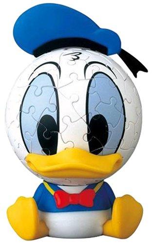 3D sphere puzzle Big Face Mini Disney 60 piece Large Donald Duck diameter of about 76cm japan import