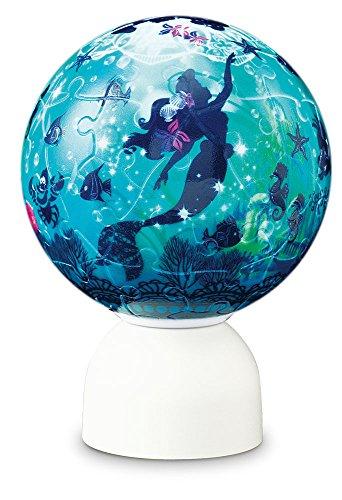 60 piece Puzzle lantern Pazurantan Disney 3D sphere puzzle Silhouette Little Mermaid Dream Ocean