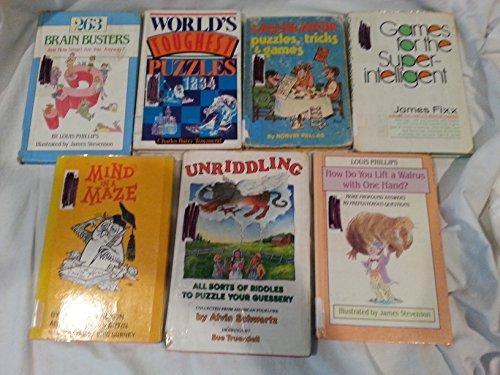 Lot of 7 Mind Puzzle Books Puzzle Books Riddle Books Brain Teaser Books