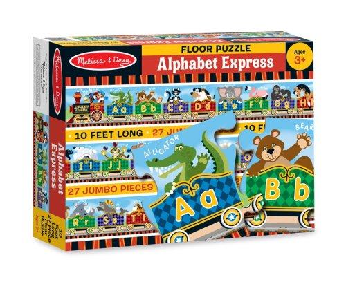 Melissa Doug Alphabet Express Jumbo Jigsaw Floor Puzzle 27 pcs 10 feet long