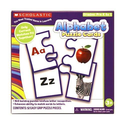 Scholastic Alphabet Puzzle Cards Grades Pre K to 1