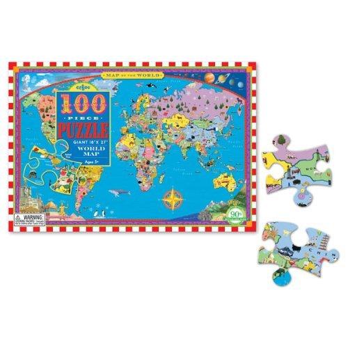 eeboo World Map 100 Piece Puzzle