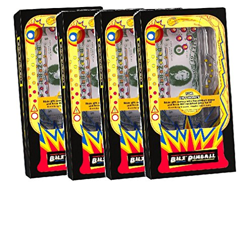 Set of 4 Retro Pinball Money Machine Puzzles - Fun Challenging Gift Holder