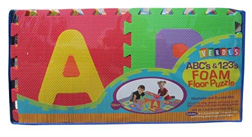Verdes Alphabet and Numbers Foam Puzzle Playmat