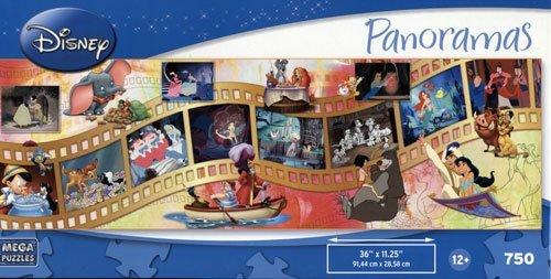 DISNEY Panoramas MOVIE MOMENTS 750 Piece Puzzle