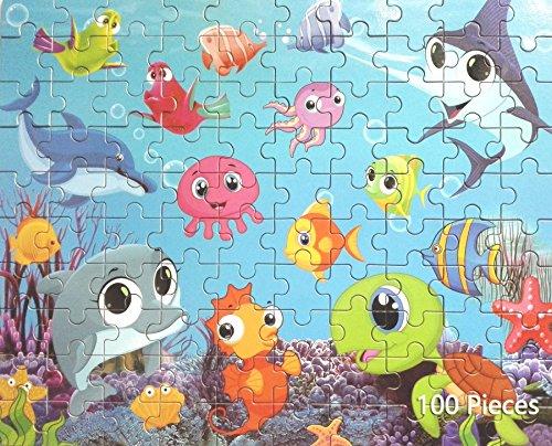 Ocean World children puzzle in tin box100 pieces