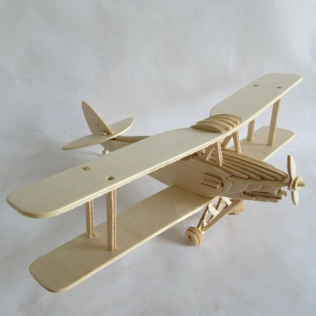 Kaden G-P 3D Jigsaw Woodcraft DIY Assembly Construction Model Plane aircraft airplane Puzzle Kit Wooden Handcraft Educational Products Wooden Art jigsaw puzzle toys for children diy handmade woodenold fighter-model plane