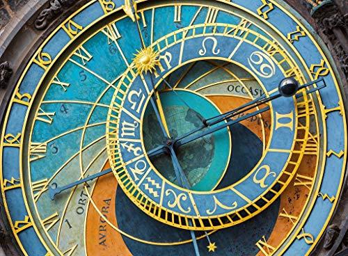 Colorful Wooden Photo Jigsaw Puzzle - Prague Clock - 500 Unique Wooden Pieces by Nautilus Puzzles
