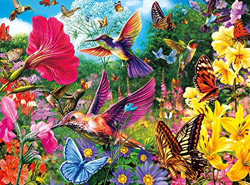 Buffalo Games Hummingbird Garden Jigsaw Puzzle from the Vivid Collection 1000 Piece