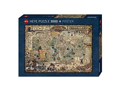 Heye Pirate World 3000 Piece Map Jigsaw Puzzle by Heye