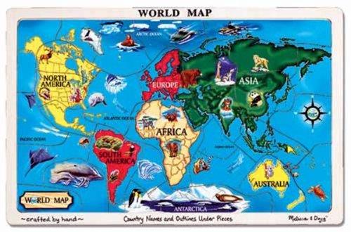 Melissa Doug World Map Jigsaw Puzzle