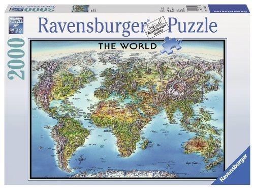 Ravensburger World Map Jigsaw Puzzle 2000-Piece by Ravensburger