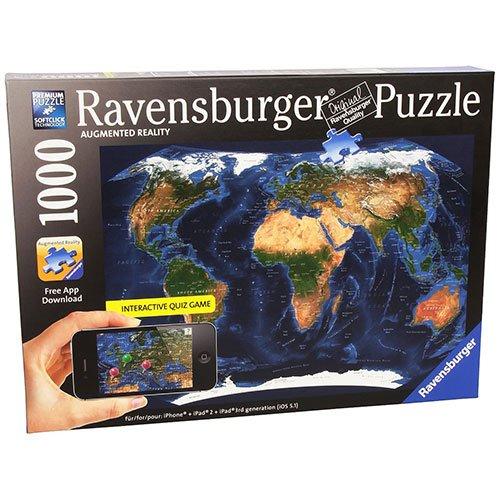 Satellite World Map Augmented Reality Jigsaw Puzzle 1000-Piece