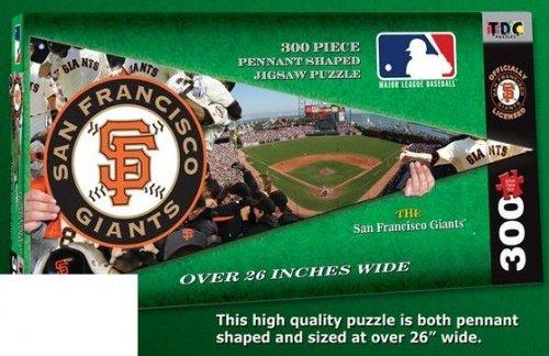 TDC Games MLB San Francisco Giants Pennant Shaped Jigsaw Puzzle