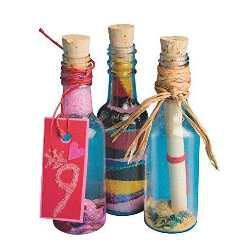 Plastic Sand Art Bottles with Cork pack of 24