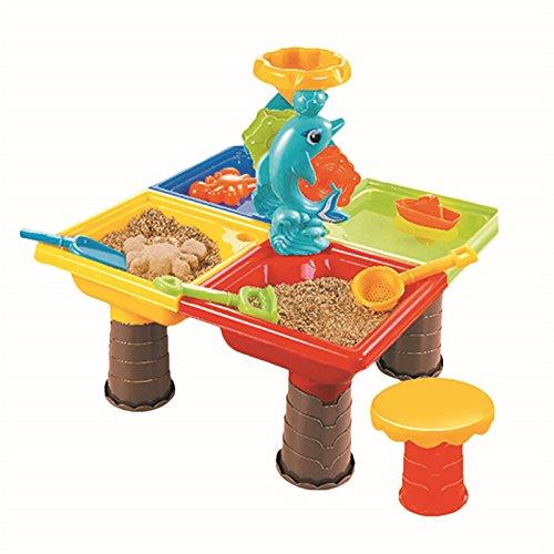 TiTa-Dong Sand Water Play Table  Kids Beach Play Set Toys Garden Sandpit Sandbox Desk Toys Toddler Aquatic Arena Sandbox Activity Play Set
